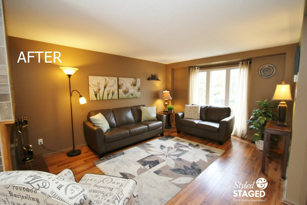The Homeowners Loved To Look Out Of Their Beautiful Floor To Ceiling  Windows, But By Moving The Loveseat In Front Of The Window, The Room Looked  Wider And ...