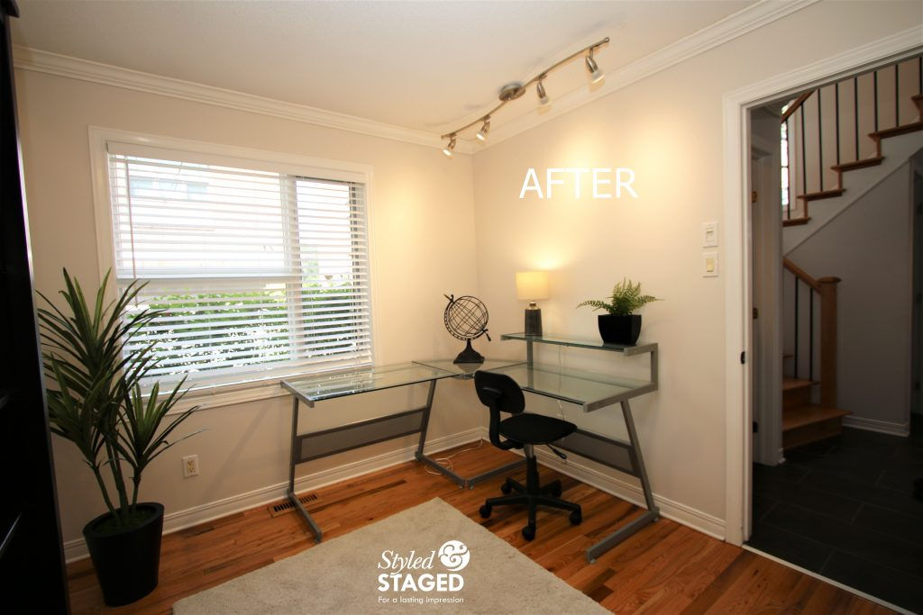Staging you home office with a desk